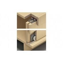 Фурнитура для раздвижных деревянных дверей внутреннего крепления для 3х дверных полотен с регулировкой