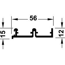 """Ходовая шина """"Silent-vf-80"""" 2,5 м, верхней алюминий анодированный"""