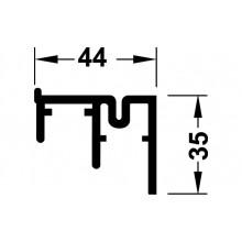 "Двойная шина ""Silent-VF-80"" 2,5 м, нижняя алюминий"