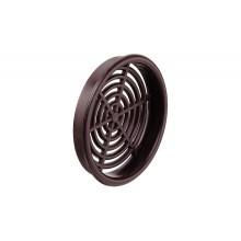 Решетка вентиляционная круглая D65 мм пластмасса коричневая