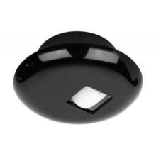 Мебельный ходовой ролик скольжения твердый D 62мм пластик черный
