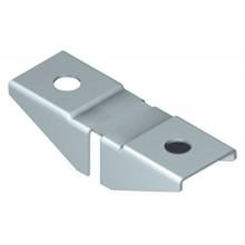 Полкодержатель для стекла 2-сторонний, нержавеющая сталь, 12 шт