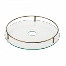 Полка стеклянная c релингом  диаметр 450 мм