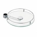 Полка стеклянная с держателем STBS350 диаметр 350 мм