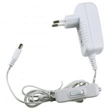8541.40.90.00 LED-адаптер, 18W, 12V, IP20, кабель 1.5m, выкл, белый корпус
