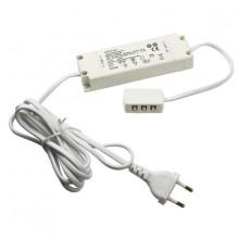 8504.32.80.90 Блок питания для LED, 20W, 12V,IP20,распр. блок для 6 светильн, кабель 1,8m