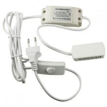 8541.40.90.00 Блок питания для LED, 6W, 12V,IP20, распр. блок для 6 светильн.,выкл.кабель 1,8m