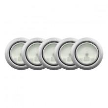 9405.20.99.00 Комплект 5 галогенных светильников, 5х20W, сатин-никель