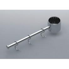 Полка вешалка одинарная 360 хром (Д360мм) REJS