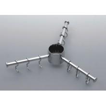 Полка вешалка тройная 360 хром (Д-р360мм) REJS