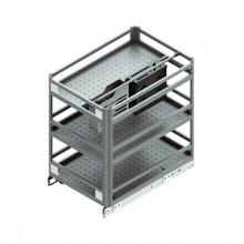 Карго 3-х уровневое с отделениями для ножей и бутылок в секцию 300мм алюмин.240х500х520