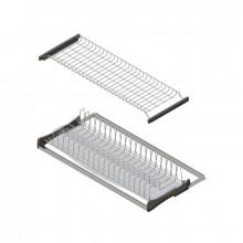 Сушка для посуды с прозрачным Поддоном 90см, алюм.рамкой хром