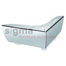 Ножка угловая Sigma H-55, L-115*115, хром