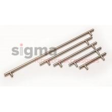 Ручка рейлинговая D-12 мм матовый хром (алюминий)
