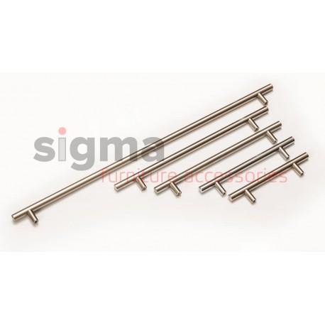 Ручка релинговая D-12 мм матовый хром (алюминий)