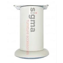 Ножка мебельная нерегулируемая Sigma D-50 белая