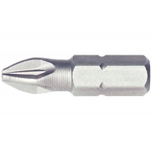 PZ-наконечник для шуруповерта, короткий, 1/4 дюйма, 1/25 мм, винт d 2,0 - 3,0 мм
