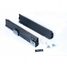 Система для выдвижных ящиков Grass Hopper PROBOX антрацит без крепления з/стенки