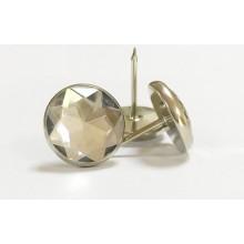 Мебельные гвозди плоские с кристаллом 18