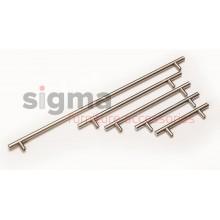 Ручка рейлинговая С-448 mm L-528 mm сатин