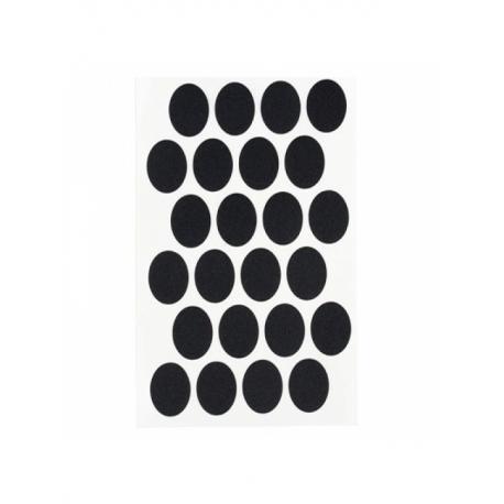Заглушка самоклеющаяся для конфирмата черная (50 шт)