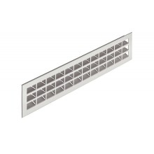 Решетка вентиляционная 550х80 мм, алюминий темно коричневая
