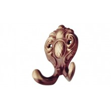 Крючок гардеробный SS латунь, цвет бронза 65 мм