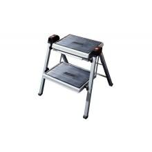 Складная лестница высота 385 мм ст. белый/серый