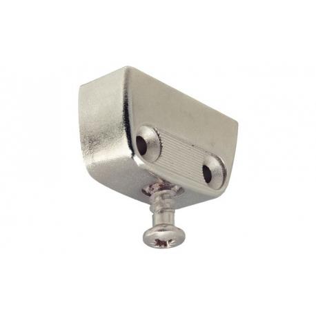 Стяжка угловая металлическая с винтом, никелированная