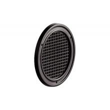 Решетка вентиляционная D50 мм, пластмасса, коричневая