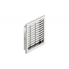 Вентиляционная решетка 57х57 мм, пластмасса, хромированная