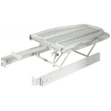 Гладильная доска, монтируется в выдвижной ящик, сталь и алюминий, цвет серый, чехол с красочными полосками